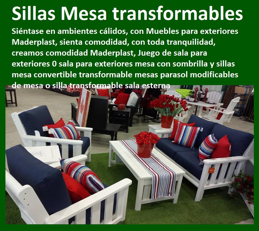 17 mesa y sillas mobiliario para exteriores pl sticos for Sillas de diseno para exterior