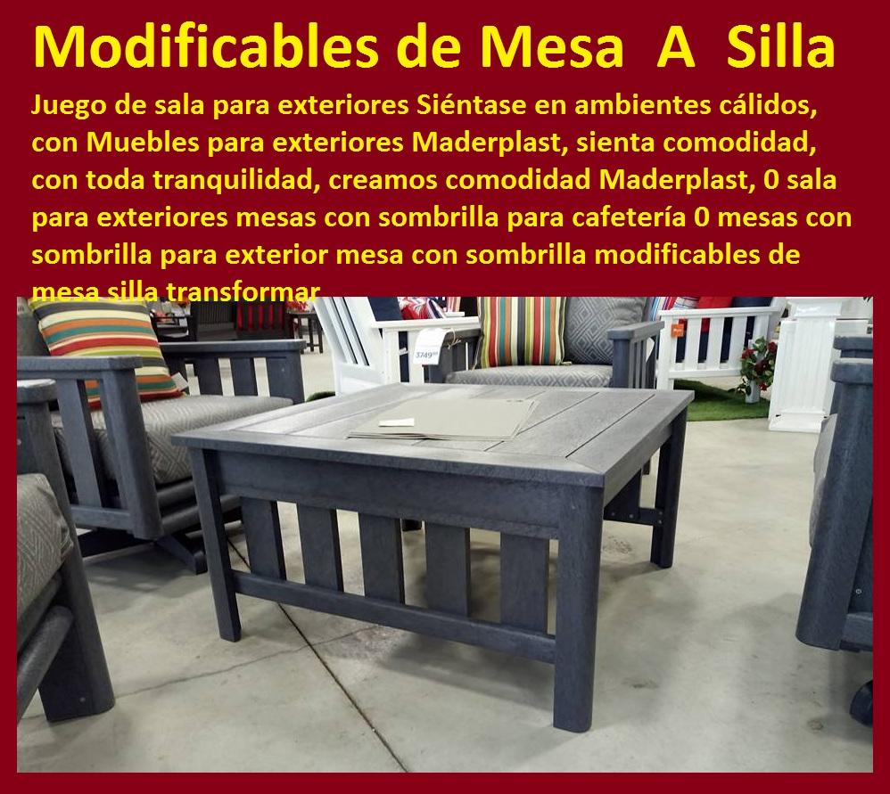 17 mesa y sillas para exteriores pl sticos con parasoles for Muebles para exteriores baratos