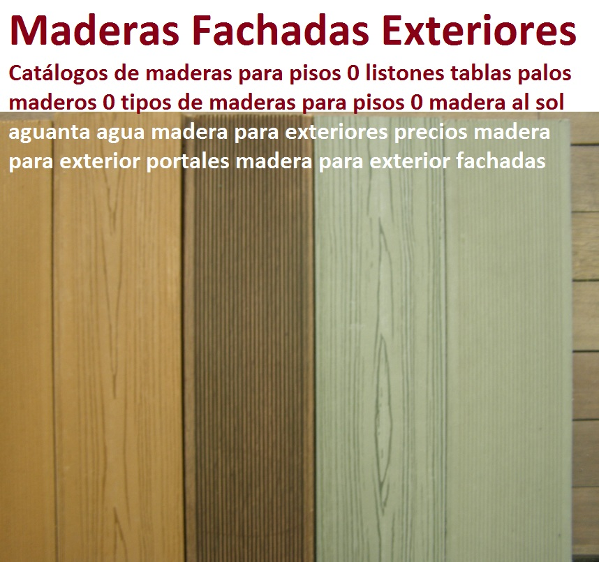 20 pisos decorativos 0 maderas plásticas 0 finas maderas de exteriores