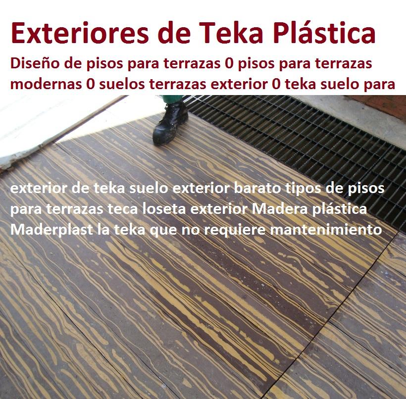 20 pisos decorativos madera pl stica finas maderas de for Suelos de exterior para terrazas