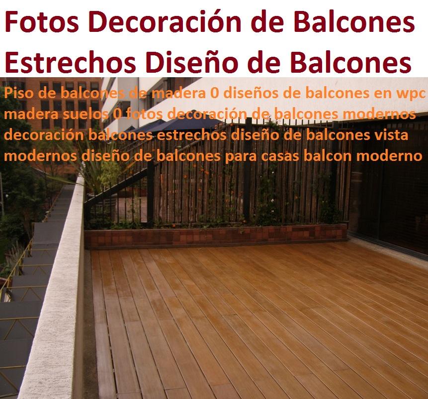 20 pisos decorativos madera pl stica finas maderas de for Balcones madera exterior