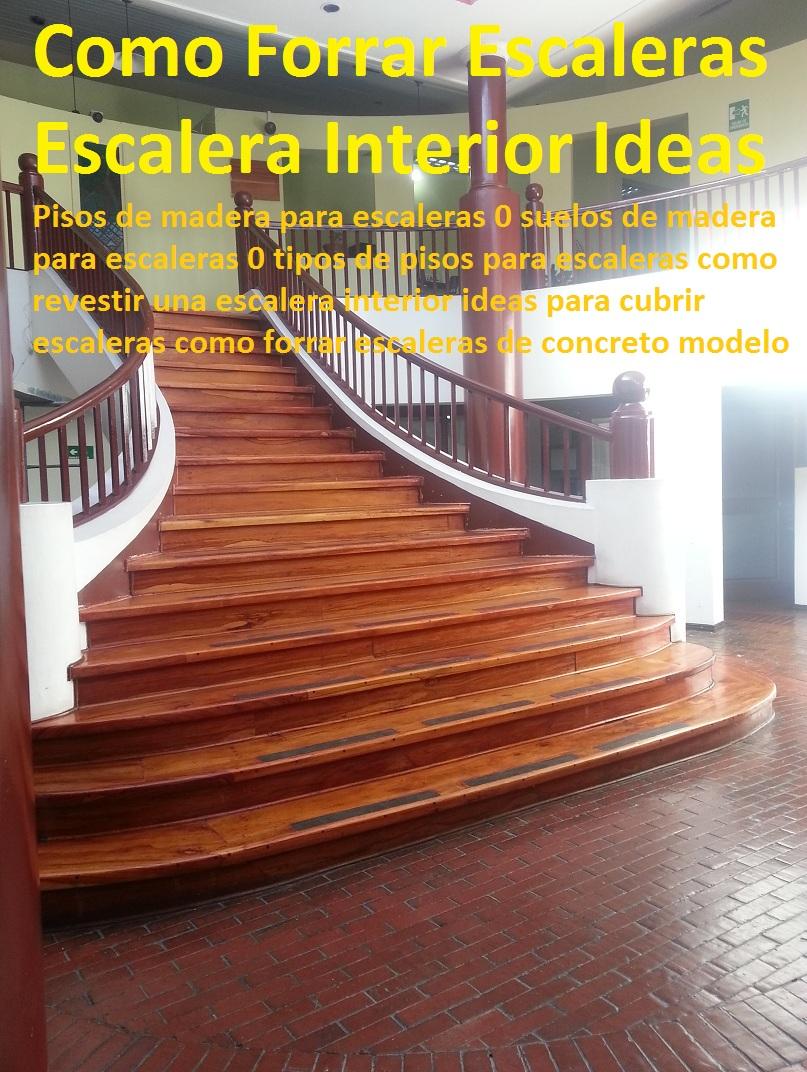 20 pisos decorativos madera pl stica finas maderas de for Pisos para escaleras de concreto