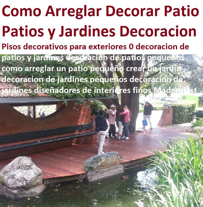 20 pisos decorativos madera pl stica finas maderas de for Como arreglar un jardin