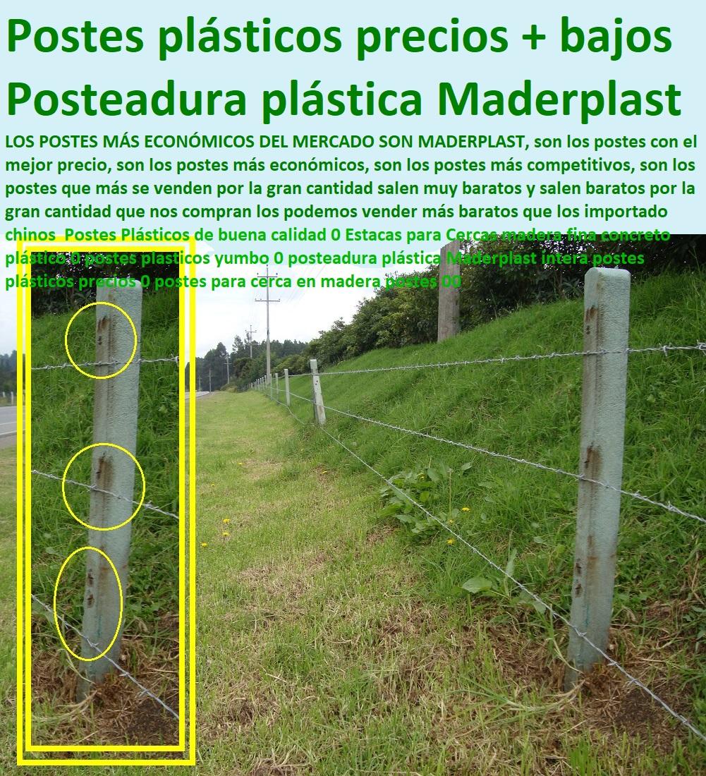 50 Postes Plásticos Maderplast 0 Poste 0 Estacones Poste De Cercas Eléctricas 0 Posteadura Alambrado De Púas